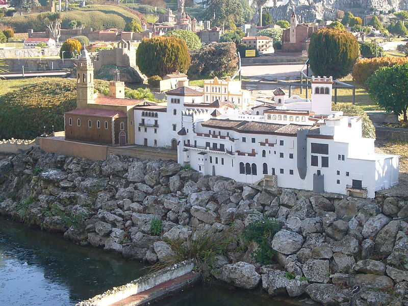reproducción a pequeña escala de cataluña en sitges.