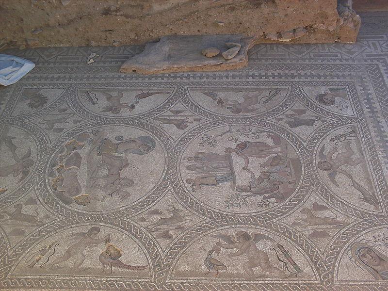 Cástulo Mosaico cuatro estaciones
