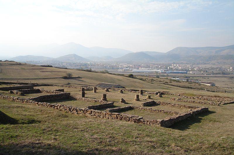 restos de la casa romana de los morillos en juliobriga
