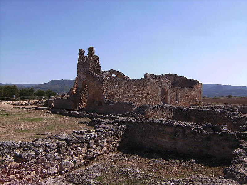 ruinas de la basílica visigoda de recopolis en zorita de los canes