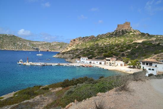 Parte del embarcadero de la isla de Cabrera.