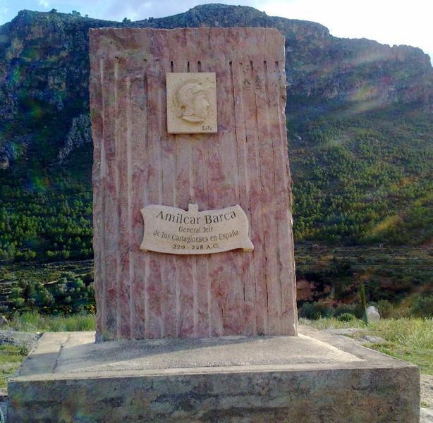 Lápida funeraria en honor a Amílcar Barca.