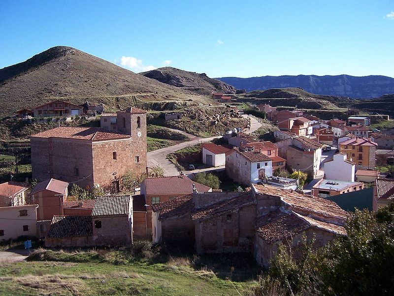 Vista general de la localidad de Clavijo en La Rioja