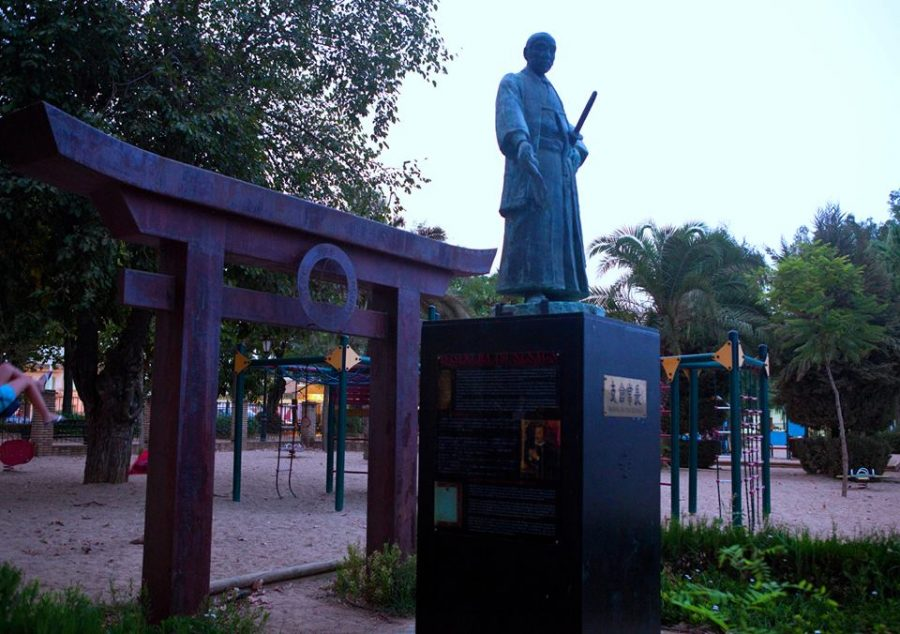 coria_del_rio_estatua_samurai_japon