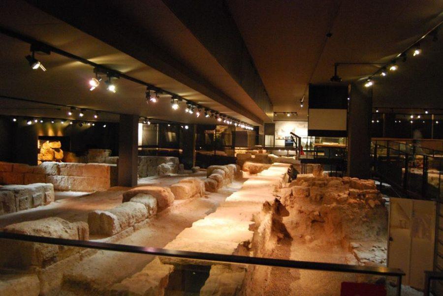 Restos de las antiguas termas romanas de Valentia.