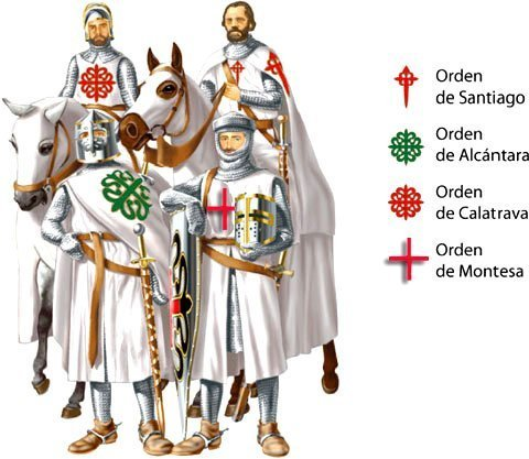 Ruta de las órdenes militares que existieron en la Península Ibérica