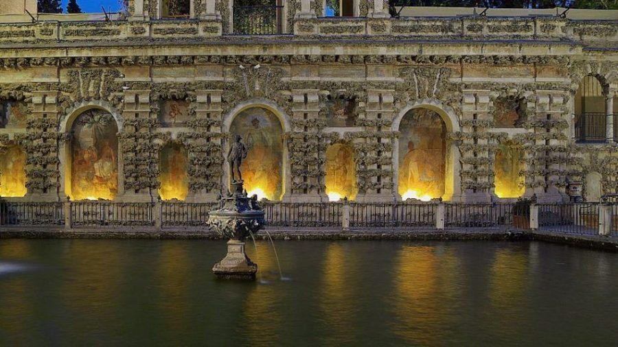 Jardín del estanque de Mercurio. Sevilla Jose Luis Filpo Cabana - Reales Alcázares de Sevilla, el jardín del Edén