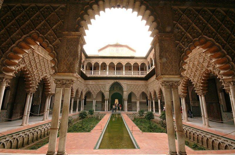 Patio de las doncellas Cat  - Reales Alcázares de Sevilla, el jardín del Edén
