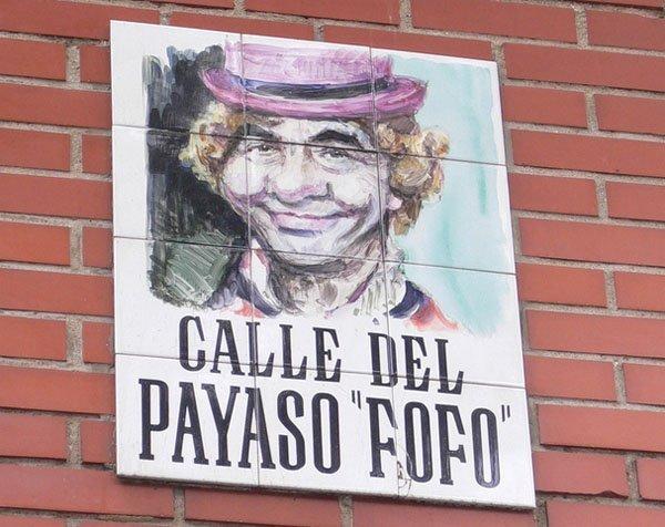 calle payaso fofo - Las calles más curiosas de Madrid
