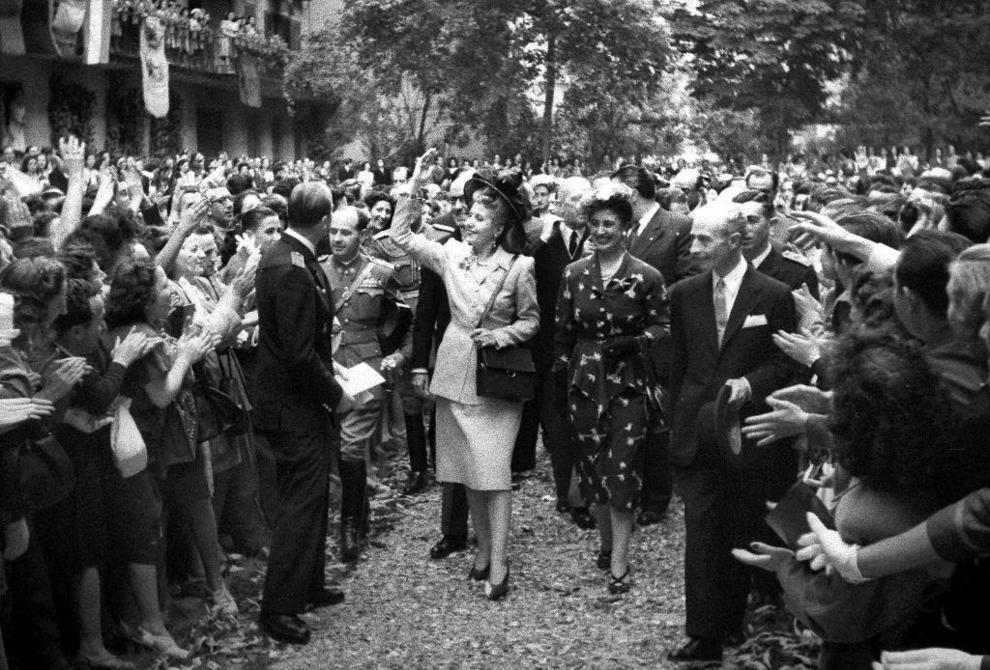 La visita de Eva Perón a España
