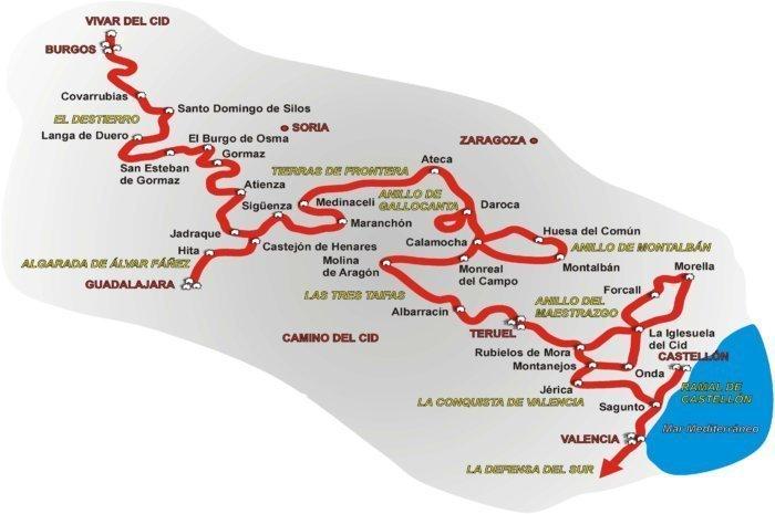 plano camino del cid e1503469111339 - La ruta del Cid: un viaje por la Edad Media